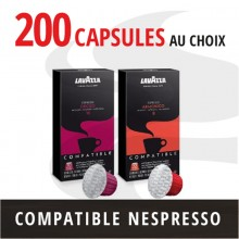 Pack 200 capsules Nespresso compatibles