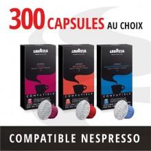 Pack 300 capsules Nespresso compatibles