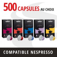 Pack 500 capsules Nespresso compatibles